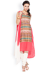 Multicolored Printed Churidar Suit