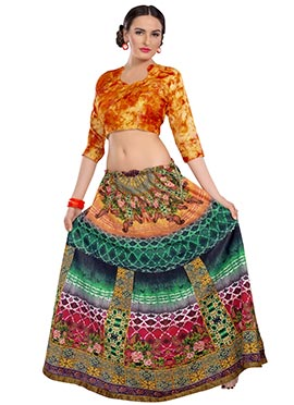 Multicolored Printed Lehenga Choli