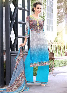 Multicolored Printed Palazzo Suit