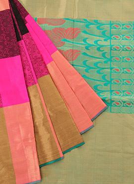 Multicolored Pure Soft Silk Saree