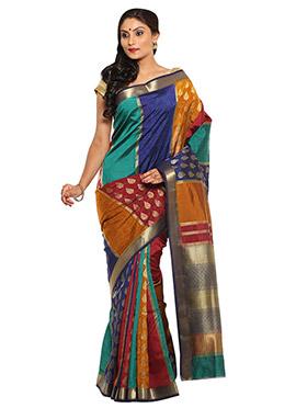 Multicolored Silk Saree