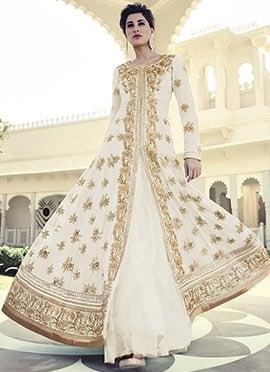 Nargis Fakhri Off White Floor Length Anarkali Suit