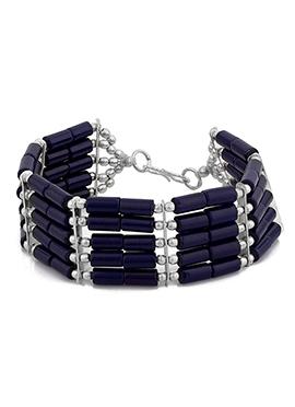 Navy Blue Beads Bracelet