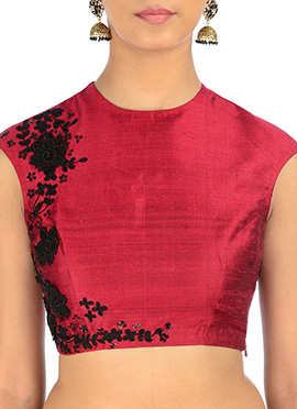 Neelam Arora Regal Red Embroidery Blouse
