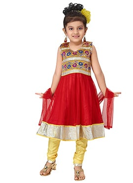 Net Red Anarkali Suit
