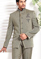 Nice Jute Bandhgala Suit