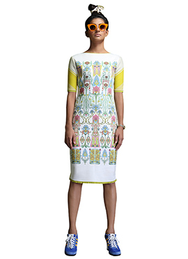 Nida Mahmood Digital Print Bodycon Dress