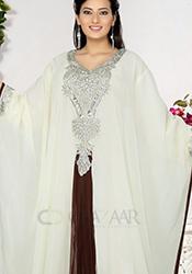 Noble Off White Farasha Kaftan