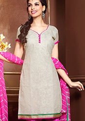 Charming Chanderi Cotton Jacquard Churidar