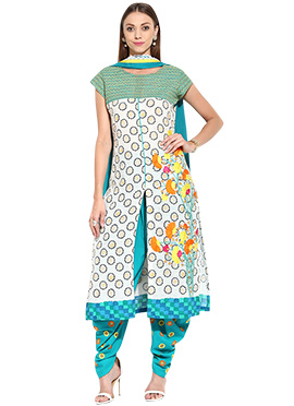 Off White Cotton Dhoti Style Suit