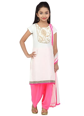 Off White Salwar Suit By K And U