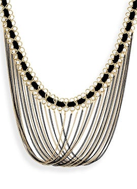 One Stop Fashion Gold N Black Layered Necklace