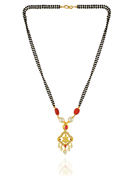 One Stop Fashion Gold Pleated Mangalsutra