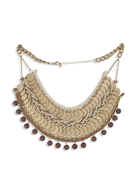 One Stop Fashion Golden N Brown Necklace
