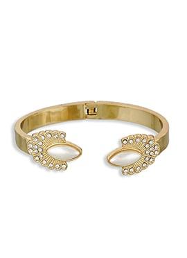 One Stop Fashion Stone Gold Bracelet