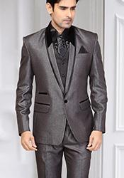 Opulent Grey Terrycot Suit