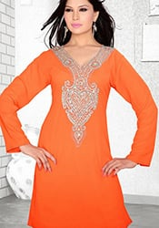 Orange Georgette Kurti