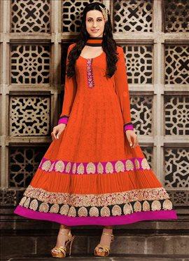 Orange Karishma Kapoor Kalidar Suit