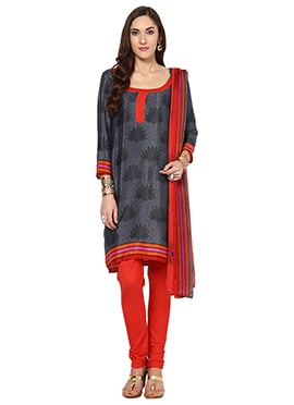 Peach Cotton Home India Churidar Suit