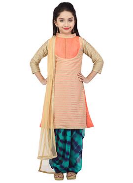Peach Salwar Suit By K And U
