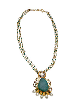 Peacock Green Natural Stone Necklace