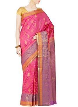 Pink Art Kanjivaram Silk Saree