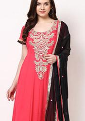 Pink Georgette Anarkali Suit