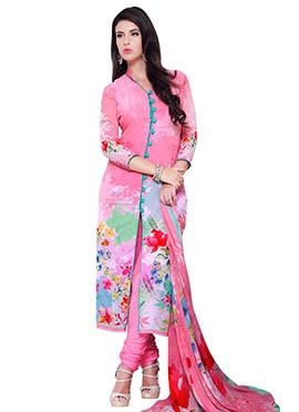 Pink Georgette Salwar
