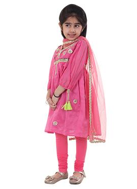 Pink Kids Chiquitita Anarkali Set