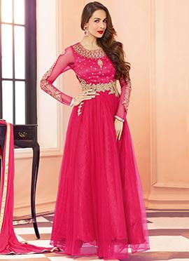 Pink Malaika Arora Khan Ankle Length Anarkali Suit