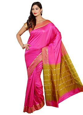 Pink Mysore Art Silk Saree