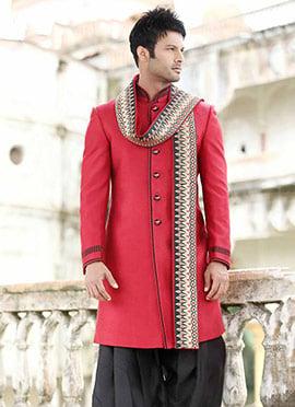 Pink Patiala Style Sherwani