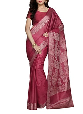Pink Pure Silk Saree