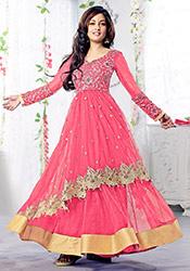 Pink Riya Sen Georgette Anarkali Suit