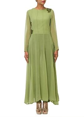 Pista Green Kalidar Suit