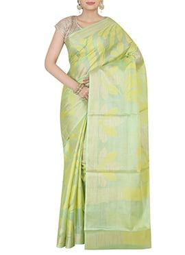Pista Green Pure Silk Saree