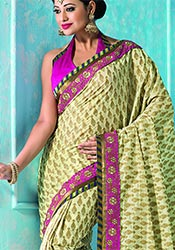 Pista Green Uppada Silk Saree