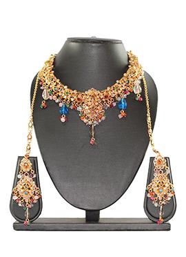 Polki Embellished Traditsiya Necklace Set