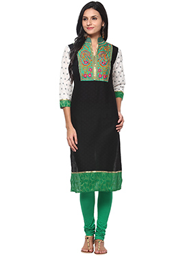 Prakhya Black Cotton Kurti