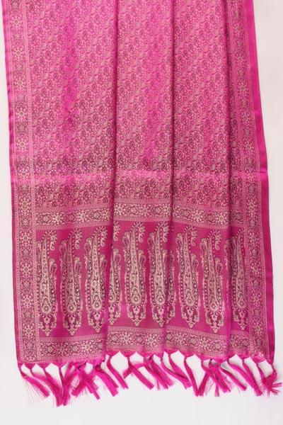 Ravishing Magenta Banarasi Handwoven Stole