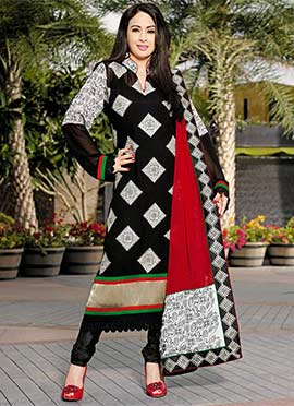 Preeti Jhangiani Black Churidar Suit