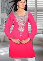 Pretty Pink Georgette Kurti