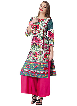 Printed Cambric Cotton Multicolored Kurti