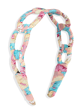 Printed Carved Multicolored Hair Band