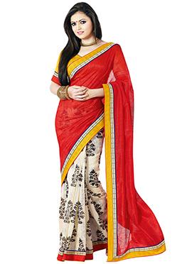 Printed Drasthi Dhami Half N Half Saree