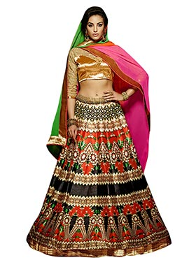 Printed Multicolored A Line Lehenga Choli