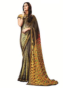 Printed Multicolored Saree