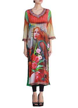 Printed Multicolored Shanaya Kurti