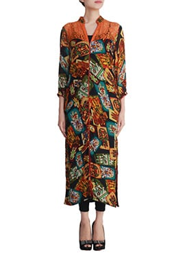 Printed Multicolored Shanaya Long Kurti