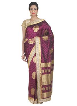 Pure Kanjivaram Silk Purple Saree